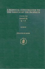 Cover Bilingual Concordance to the Targum of the Prophets, Volume 10 Isaiah (chet - samekh)