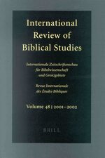 Cover International Review of Biblical Studies, Volume 46 (1999-2000)