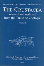 Cover Treatise on Zoology - Anatomy, Taxonomy, Biology. The Crustacea, Volume 1