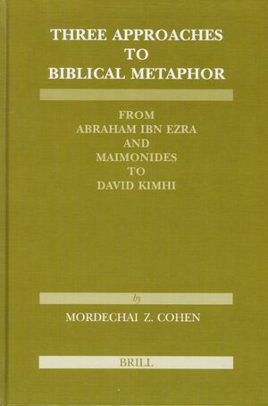Cover Three Approaches to Biblical Metaphor