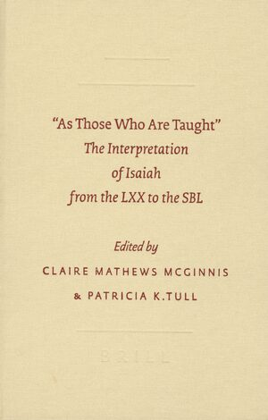 """As Those Who Are Taught"""" – The Interpretation of Isaiah from"""