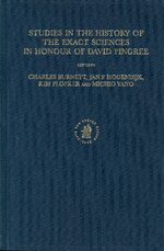Cover Studies in the History of the Exact Sciences in Honour of David Pingree