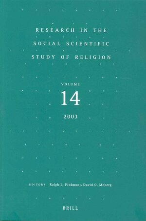 Cover Research in the Social Scientific Study of Religion, Volume 14