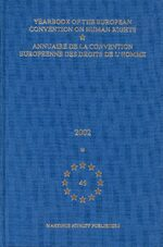 Cover Yearbook of the European Convention on Human Rights/Annuaire de la convention europeenne des droits de l'homme, Volume 45 (2002)