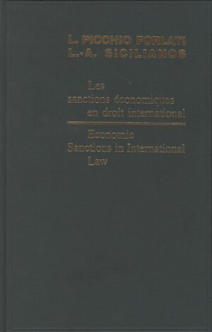 Cover Economic Sanctions in International Law / Les sanctions économiques en droit international