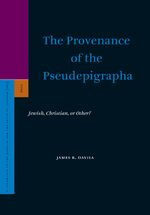Cover The Provenance of the Pseudepigrapha