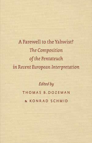 Cover A Farewell to the Yahwist?