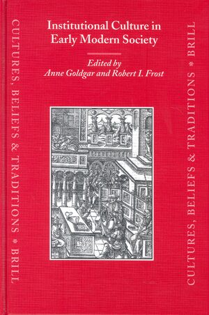 Cover Institutional Culture in Early Modern Society