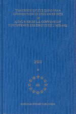 Cover Yearbook of the European Convention on Human Rights/Annuaire de la convention europeenne des droits de l'homme, Volume 46 (2003)