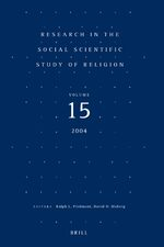 Cover Research in the Social Scientific Study of Religion, Volume 15