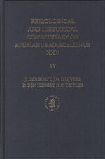 Cover Philological and Historical Commentary on Ammianus Marcellinus XXV