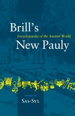 Cover Brill's New Pauly, Antiquity, Volume 13 (Sas-Syl)
