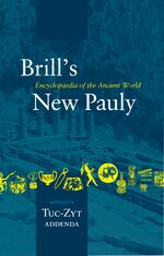 Cover Brill's New Pauly, Antiquity, Volume 15 (Tuc-Zyt)