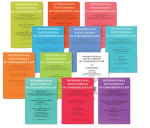 Cover International Encyclopedia of Comparative Law, Instalment 38