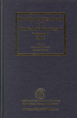 Cover Max Planck Yearbook of United Nations Law, Volume 8 (2004)