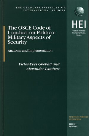 Cover The OSCE Code of Conduct on Politico-Military Aspects of Security
