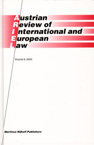 Cover Austrian Review of International and European Law, Volume 8 (2003)