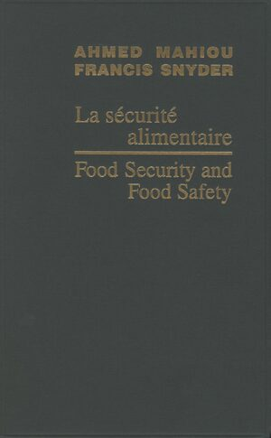 Cover Food Security and Food Safety / La sécurité alimentaire