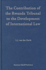 The Contribution of the Rwanda Tribunal to the Development of International Law