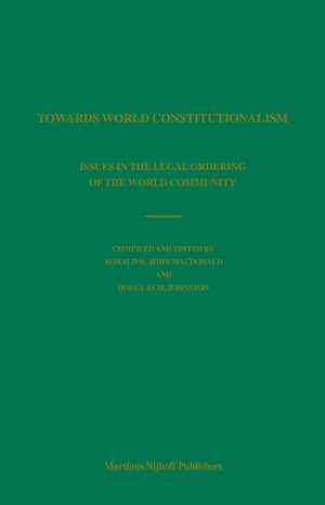 Cover Towards World Constitutionalism