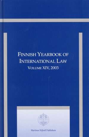 Cover Finnish Yearbook of International Law, Volume 14 (2003)