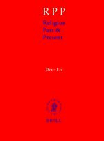 Cover Religion Past and Present, Volume 4 (Dev-Ezr)