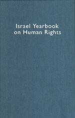 Israel Yearbook on Human Rights, Volume 35 (2005)