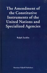 Cover The Amendment of the Constitutive Instruments of the United Nations and Specialized Agencies