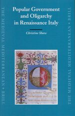 Cover Popular Government and Oligarchy in Renaissance Italy