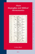 Cover Pico's <i>Heptaplus</i> and Biblical Hermeneutics
