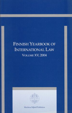 Cover Finnish Yearbook of International Law, Volume 15 (2004)