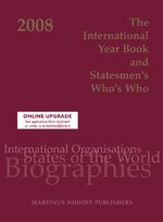Cover The International Year Book and Statesmen's Who's Who 2008