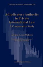 Cover Adjudicatory Authority in Private International Law