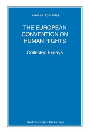 Cover The European Convention on Human Rights