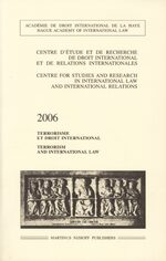 Cover Terrorism and International Law, 2006