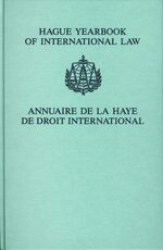 Hague Yearbook of International Law / Annuaire de La Haye de Droit International, Vol. 19 (2006)