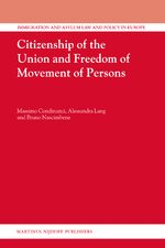 Cover Citizenship of the Union and Freedom of Movement of Persons