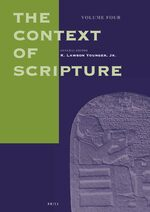 Cover The Context of Scripture, Volume 4 Supplements