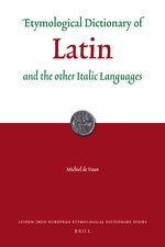 Cover Etymological Dictionary of Latin