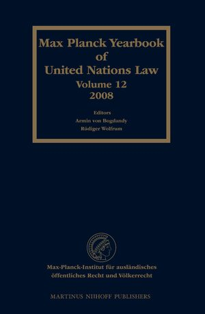 Cover Max Planck Yearbook of United Nations Law, Volume 12 (2008)