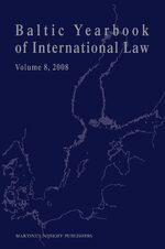 Cover Baltic Yearbook of International Law, Volume 8 (2008)