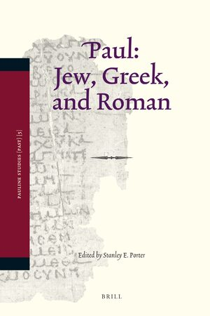 Cover Paul: Jew, Greek, and Roman