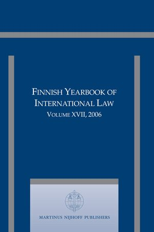 Cover Finnish Yearbook of International Law, Volume 17 (2006)