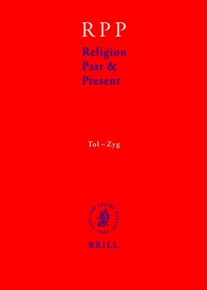 Cover Religion Past and Present, Volume 13 (Tol-Zyg)