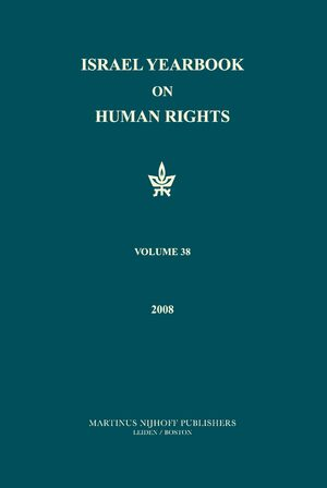 Cover Israel Yearbook on Human Rights, Volume 38 (2008)