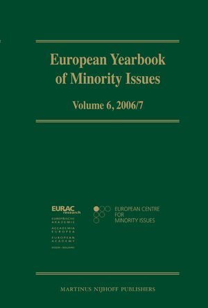 Cover European Yearbook of Minority Issues, Volume 6 (2006/2007)