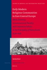 Cover Early Modern Religious Communities in East-Central Europe