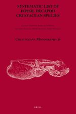 Cover Systematic List of Fossil Decapod Crustacean Species