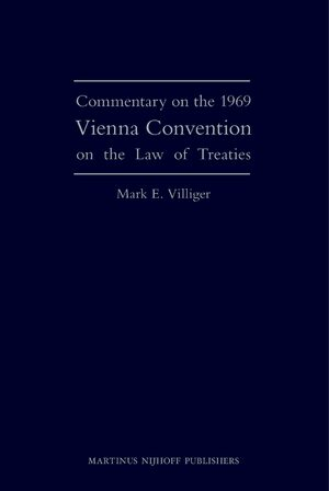 Cover Commentary on the 1969 Vienna Convention on the Law of Treaties