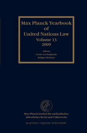 Cover Max Planck Yearbook of United Nations Law, Volume 13 (2009)